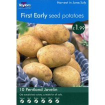First Early Seed Potatoes  10 Pentland Javelin