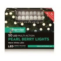 50 Warm White Multi-Action Pearl Berry Lights