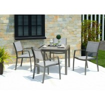 Calgary 4 Sea 88cm Square Table & Chairs