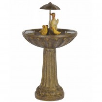 Duck Family Solar Fountain