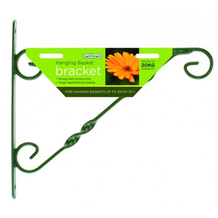 Standard Hanging Basket Bracket (Green) - 35cm