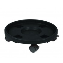 "13"" Black Plastic Pot Trolly"