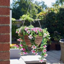 Artifical Hanging Basket - Star Gazing Lilies