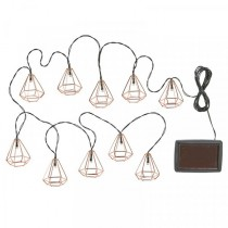 Geo Solar String Lights, 10 LEDs