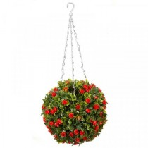 30cm Red Rose Topiary Ball