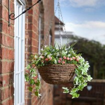 Artifical Hanging Basket - Blush
