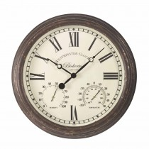 Bickerton Wall Clock & Thermometer - Large
