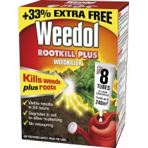 Weedol Rootkill Plus Weedkiller Liquid Concentrate, 8 Tubes