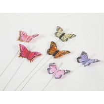 12 Feather Butterfly Pink/Dark Pink Small