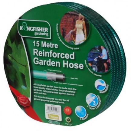 15m Standard Garden Hose - Kingfisher